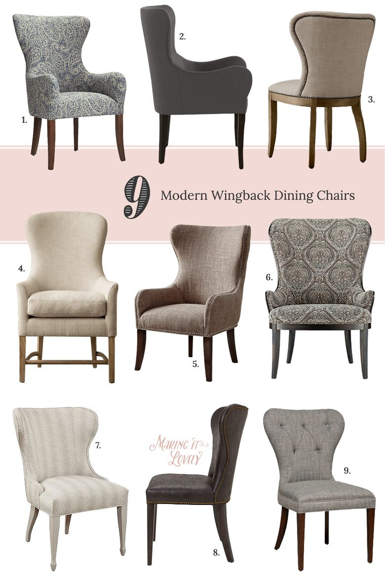 Best ideas about Wingback Dining Chair . Save or Pin 9 Modern Wingback Dining Chairs Making it Lovely Now.