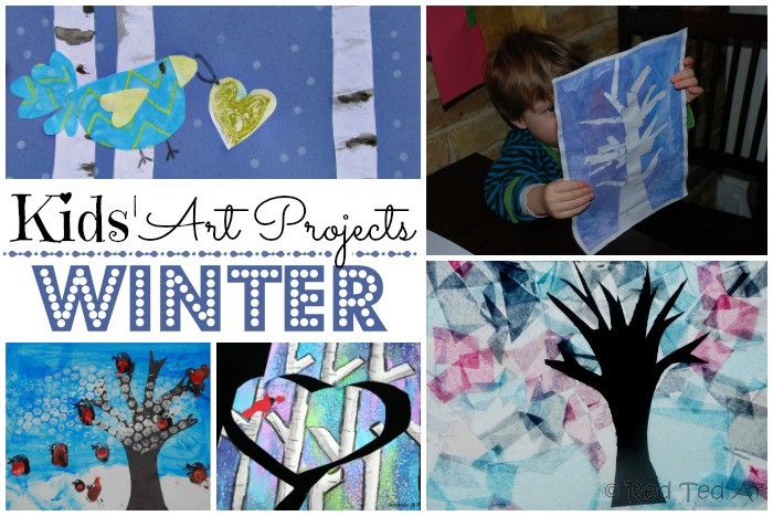 Best ideas about Winter Art Projects For Kids . Save or Pin Easy Winter Crafts for Kids Red Ted Art Now.