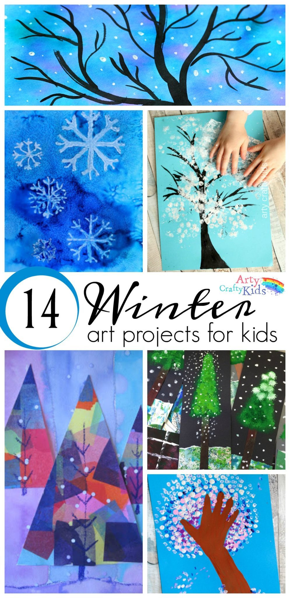 Best ideas about Winter Art Projects For Kids . Save or Pin 14 Wonderful Winter Art Projects for Kids Arty Crafty Kids Now.