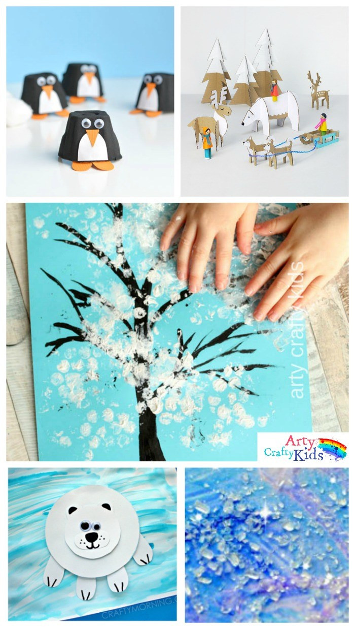 Best ideas about Winter Art Projects For Kids . Save or Pin 16 Easy Winter Crafts for Kids Arty Crafty Kids Now.