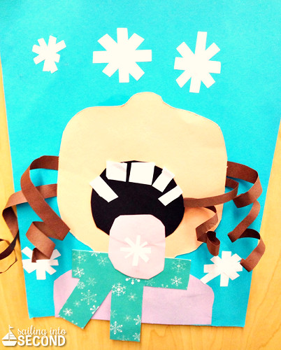 Best ideas about Winter Craft Idea For Kids . Save or Pin Children Catching Snowflakes Winter Craft for Kids Now.