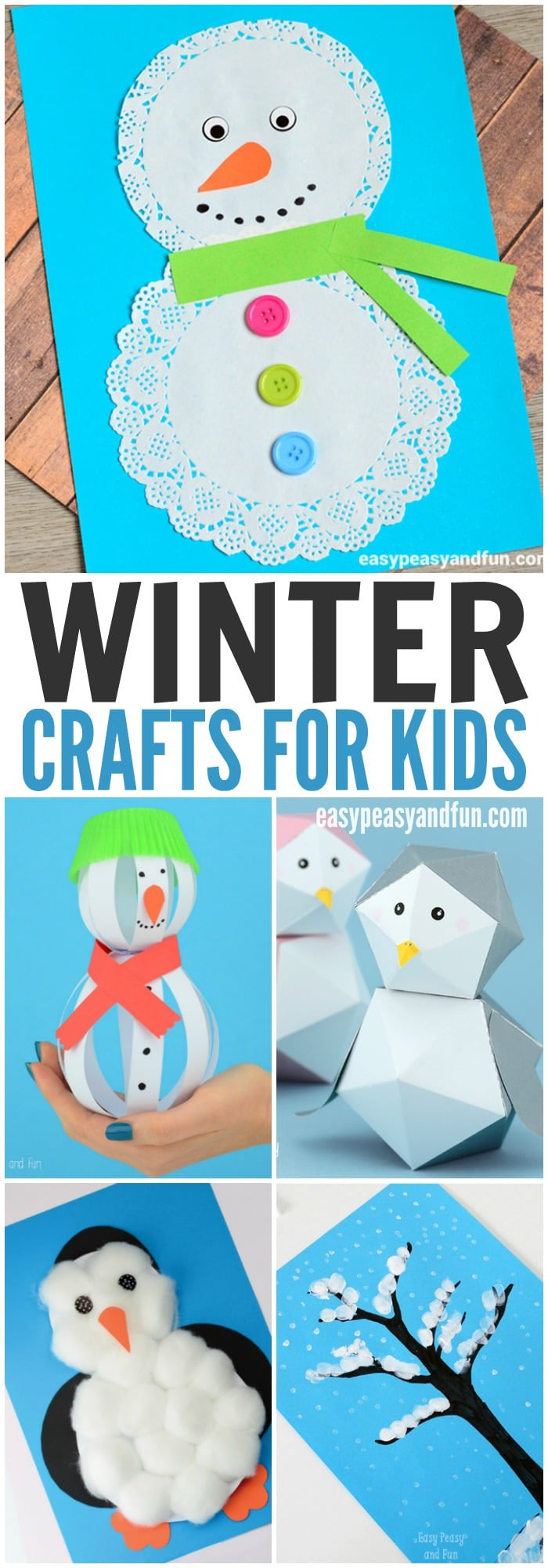 Best ideas about Winter Craft Idea For Kids . Save or Pin Winter Crafts for Kids to Make Easy Peasy and Fun Now.