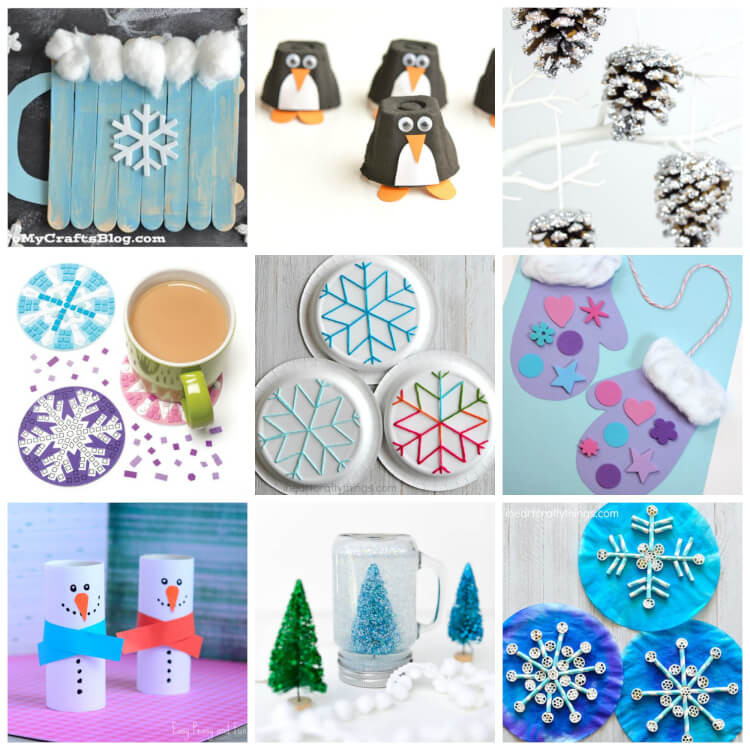 Best ideas about Winter Craft Idea For Kids . Save or Pin Easy Winter Kids Crafts That Anyone Can Make Happiness Now.