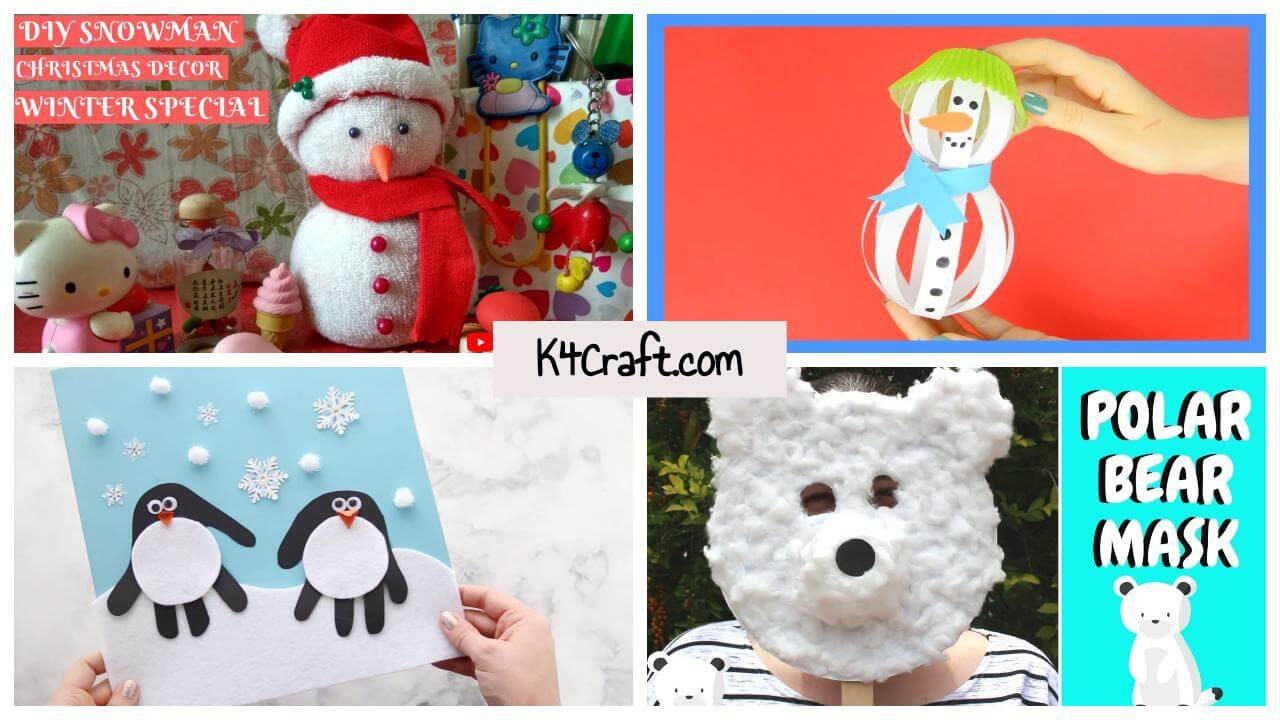 Best ideas about Winter-Crafts-For-Kids At Home . Save or Pin DIY Winter Crafts For Kids To Make at Home 1 K4 Craft Now.
