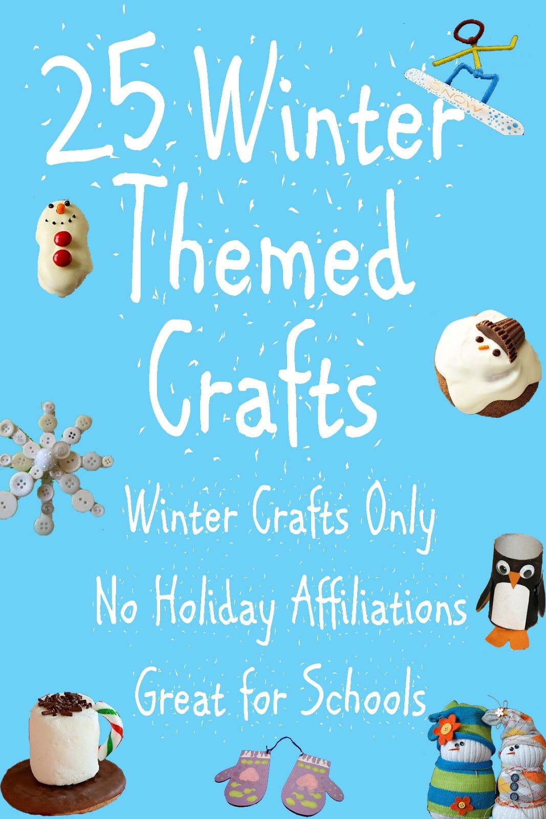 Best ideas about Winter-Crafts-For-Kids At Home . Save or Pin 25 fun Winter Themed Crafts for kids Great for home and Now.