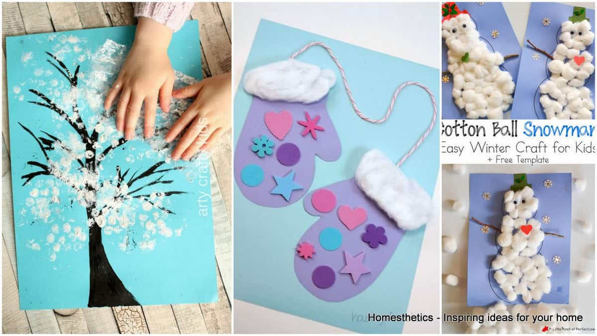 Best ideas about Winter-Crafts-For-Kids At Home . Save or Pin 17 Boredom Buster Winter Crafts for Toddlers Now.