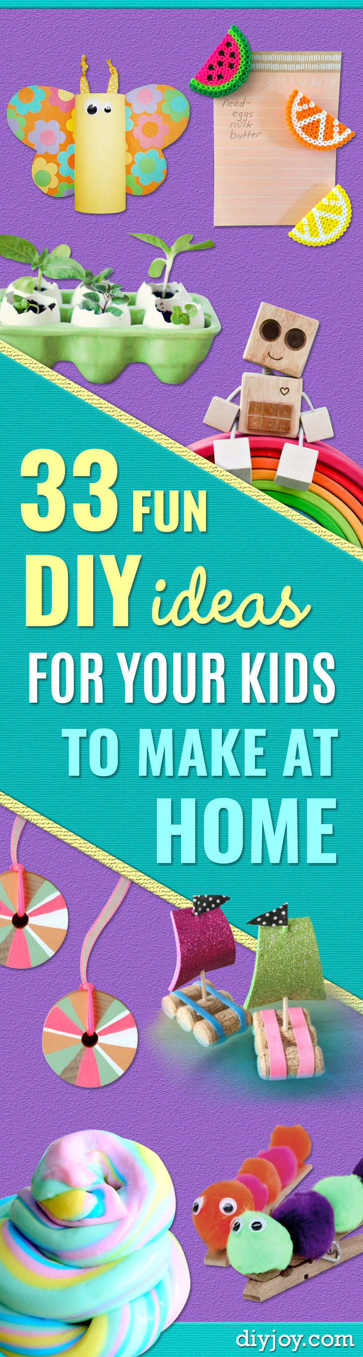 Best ideas about Winter-Crafts-For-Kids At Home . Save or Pin 33 Fun DIY Ideas for Your Kids To Make At Home Now.