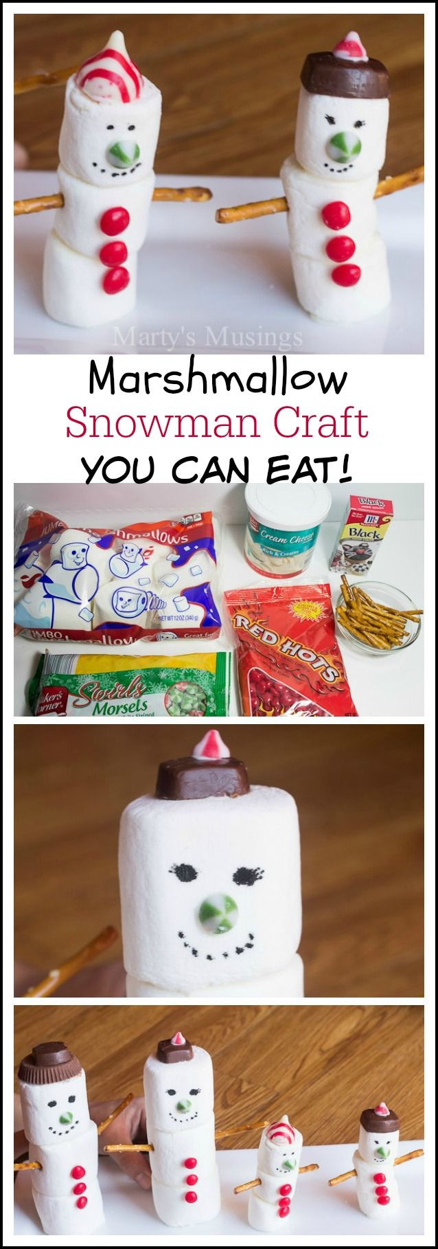Best ideas about Winter-Crafts-For-Kids At Home . Save or Pin Best 20 Marshmallow Snowman ideas on Pinterest Now.