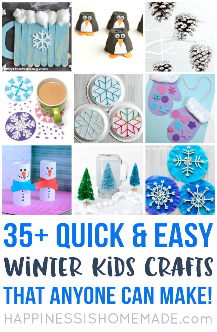 Best ideas about Winter-Crafts-For-Kids At Home . Save or Pin Easy Winter Kids Crafts That Anyone Can Make Happiness Now.