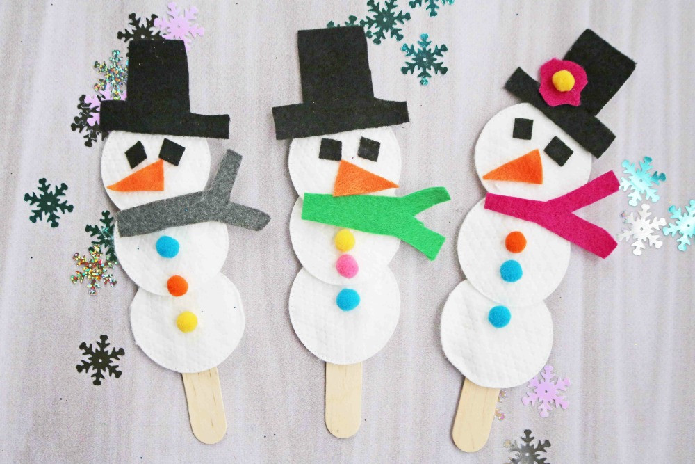 Best ideas about Winter Crafts For Kids . Save or Pin Snowman Puppet Easy Winter Craft for Kids Darice Now.