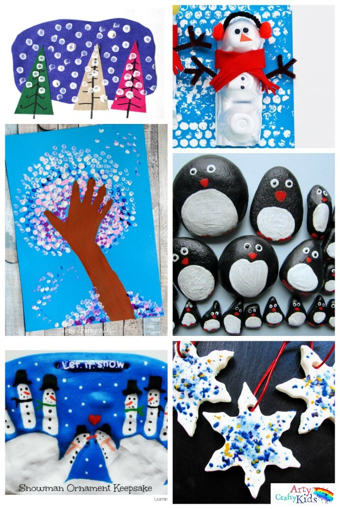 Best ideas about Winter Crafts For Kids . Save or Pin 16 Easy Winter Crafts for Kids Arty Crafty Kids Now.