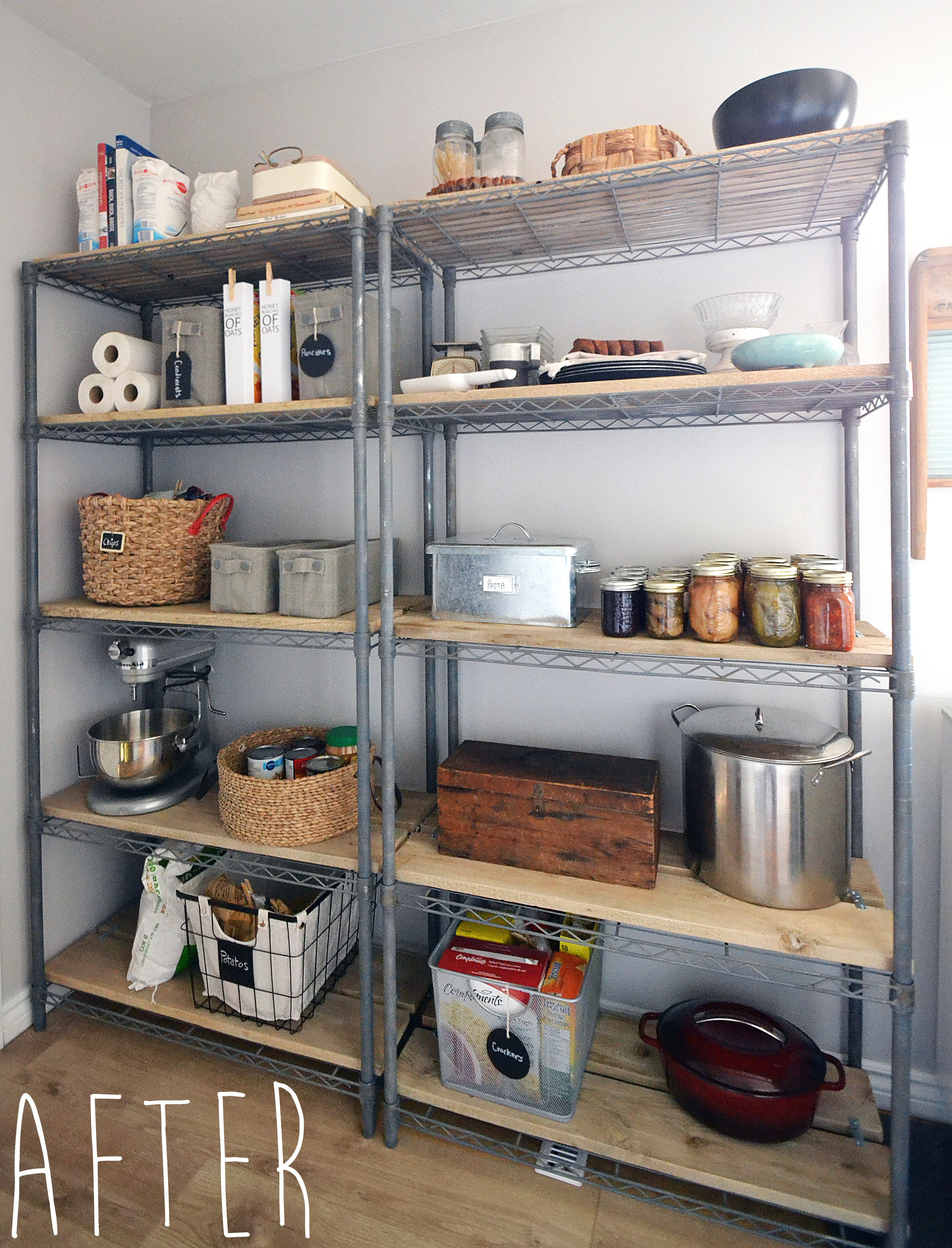 Best ideas about Wire Pantry Shelving . Save or Pin The Crux How To Give Pantry Shelving Easy Rustic Charm Now.