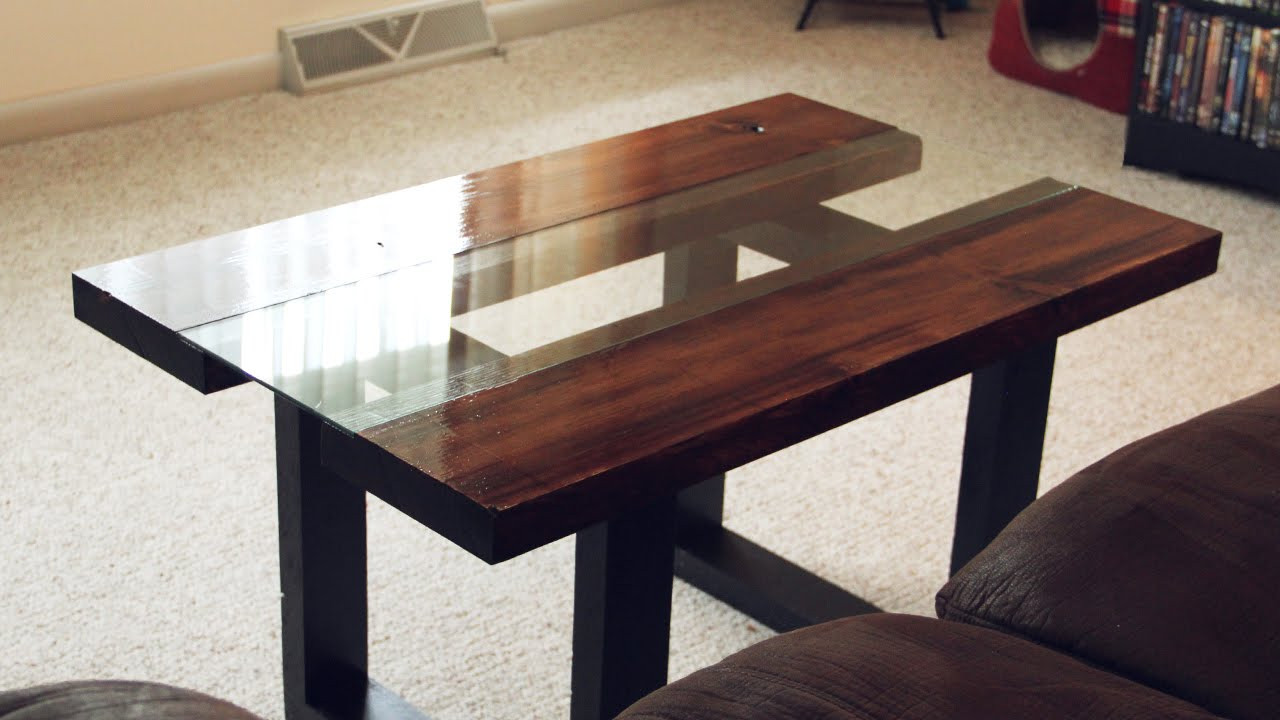 Best ideas about Wood And Glass Coffee Table . Save or Pin Glass & Wood Coffee Table with Faux Metal Legs Now.