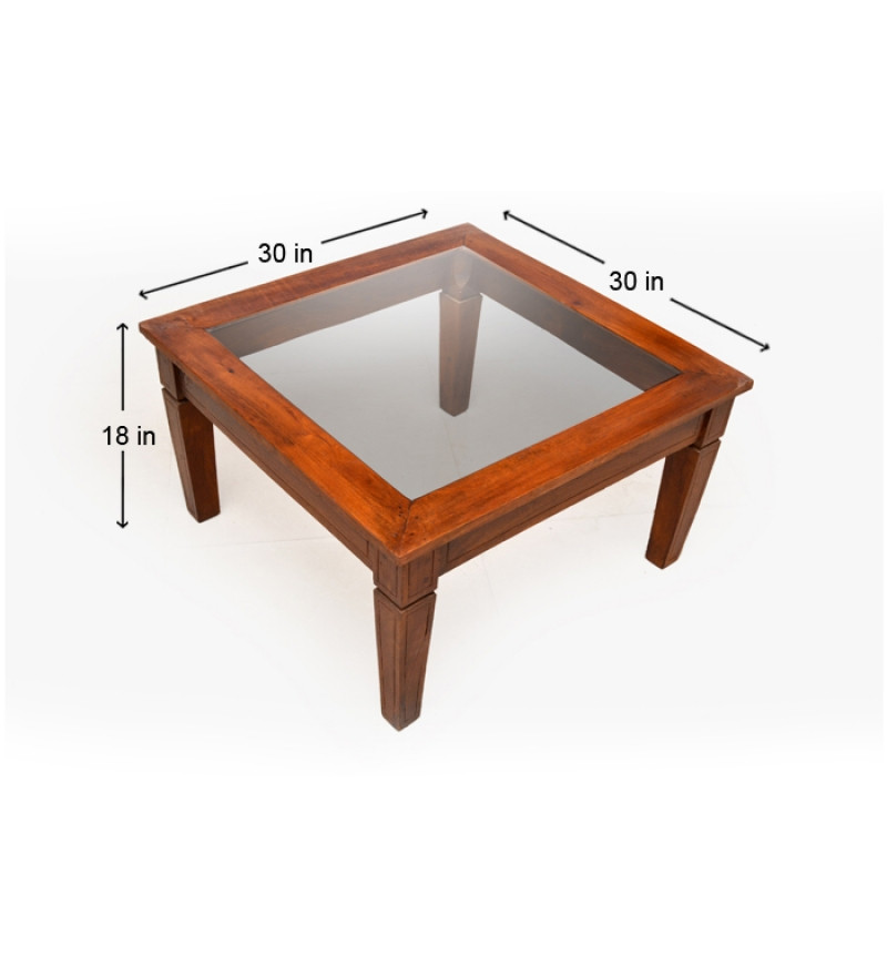 Best ideas about Wood And Glass Coffee Table . Save or Pin Attractive Glass Top Coffee Table In Mango Wood by Now.