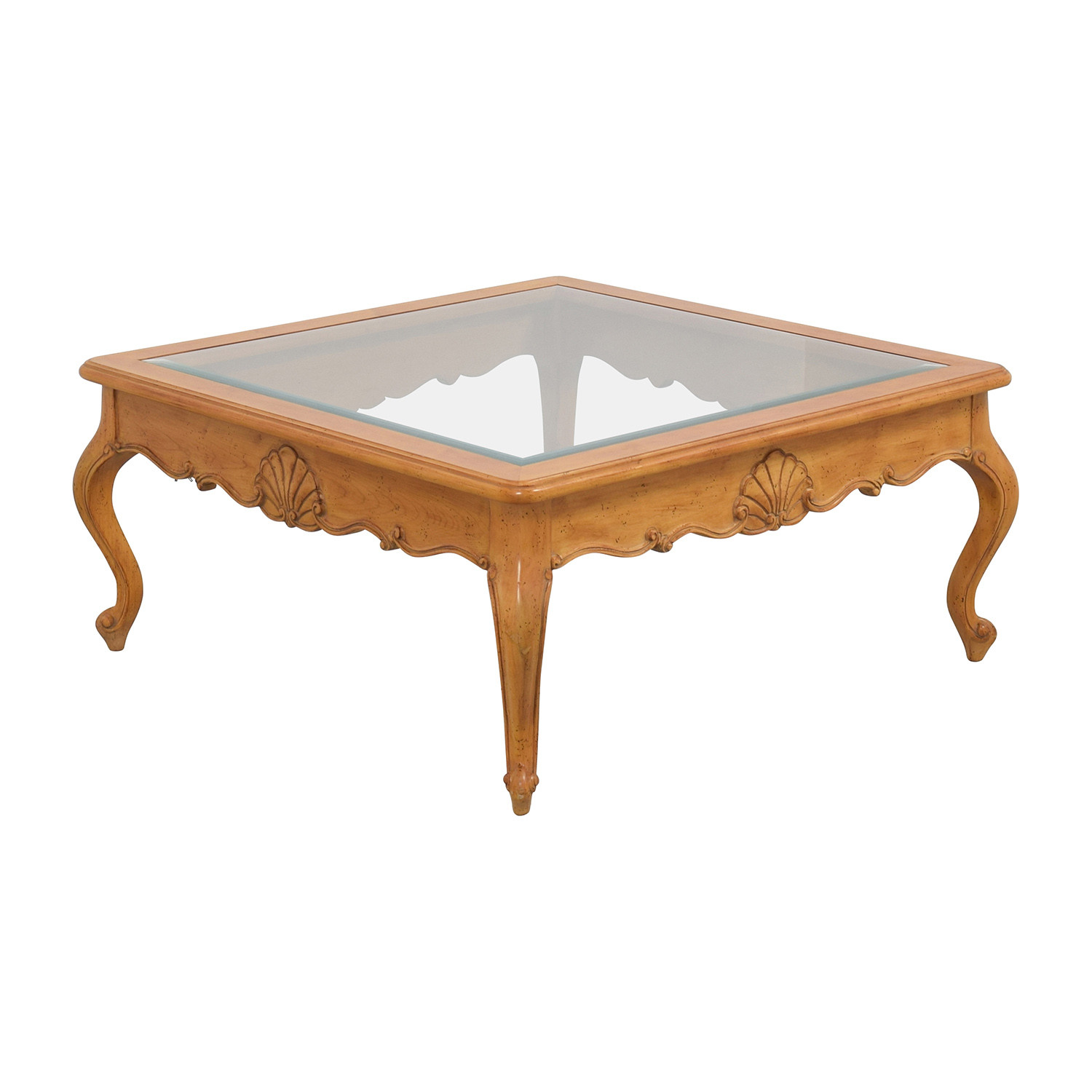 Best ideas about Wood And Glass Coffee Table . Save or Pin OFF Scroll Light Wood Glass Coffee Table Tables Now.