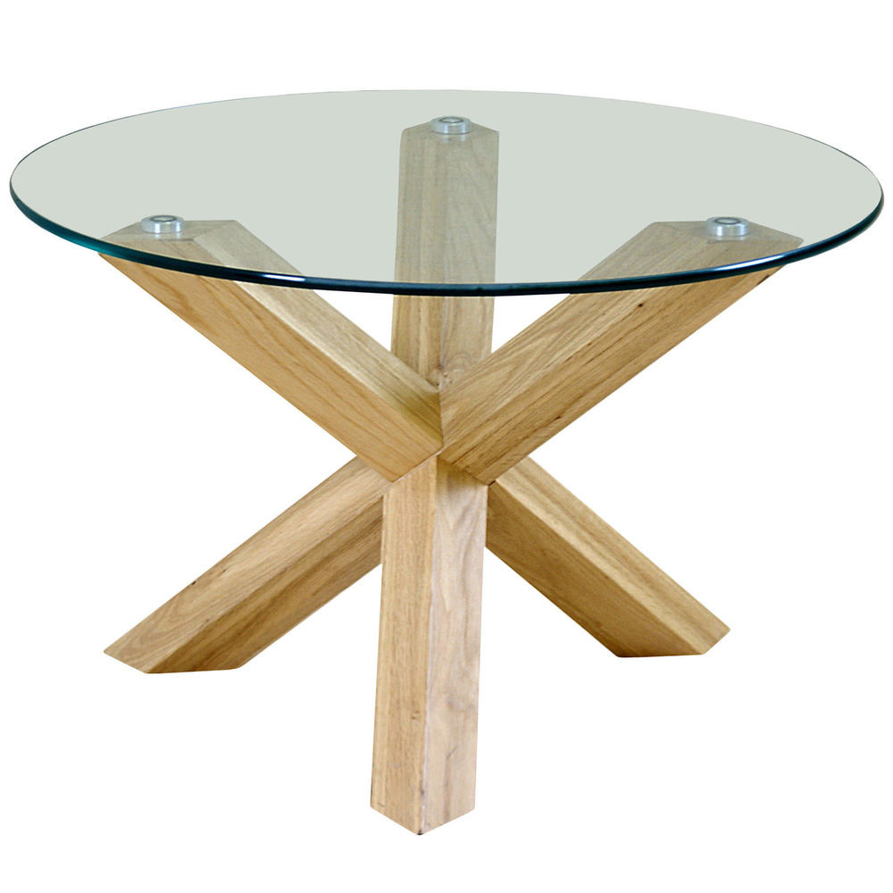 Best ideas about Wood And Glass Coffee Table . Save or Pin Solid Oak Wood & Clear Glass Round Coffee Table Now.