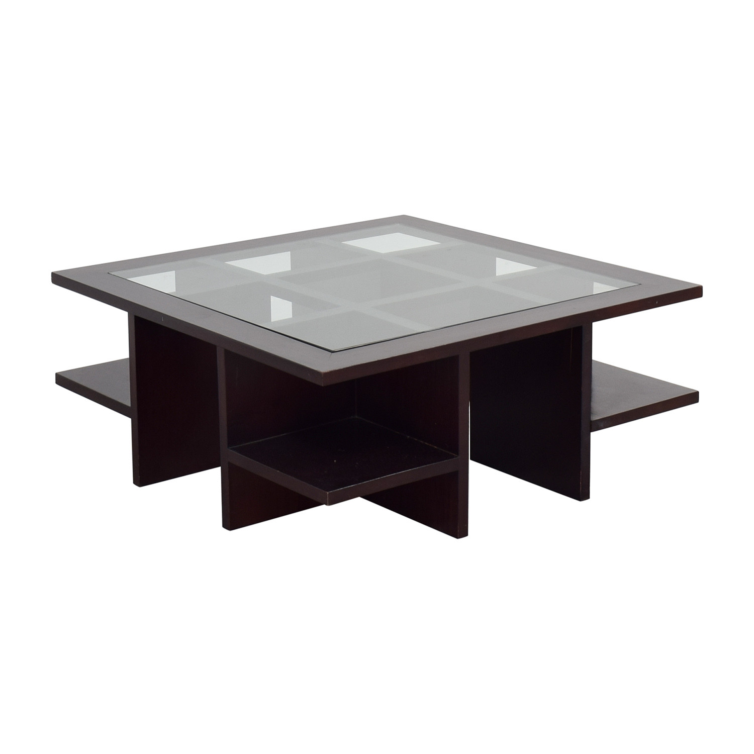 Best ideas about Wood And Glass Coffee Table . Save or Pin OFF Moie Moie Wood and Glass Coffee Table with Side Now.
