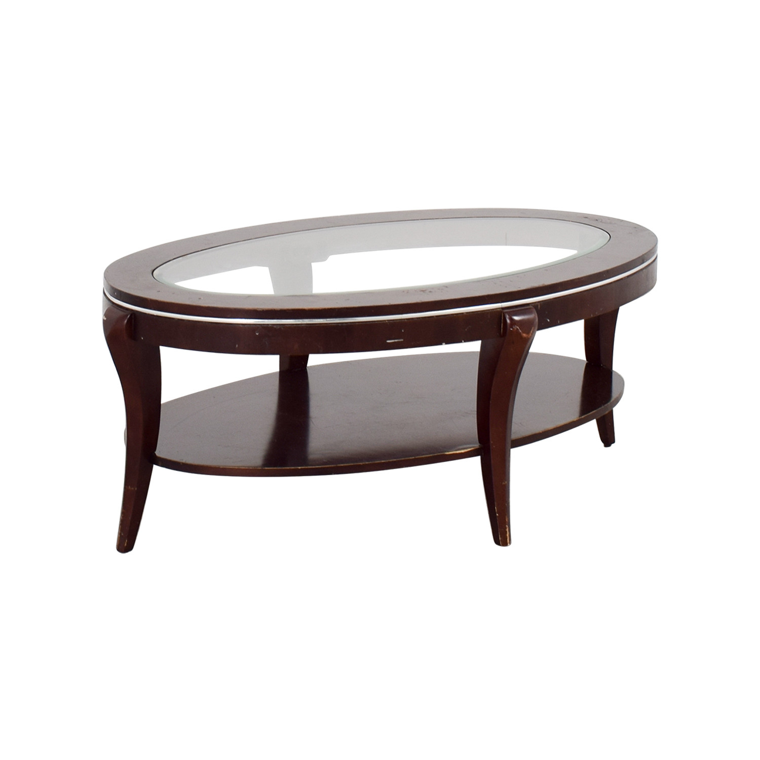 Best ideas about Wood And Glass Coffee Table . Save or Pin OFF Wood and Glass Oval Coffee Table Tables Now.