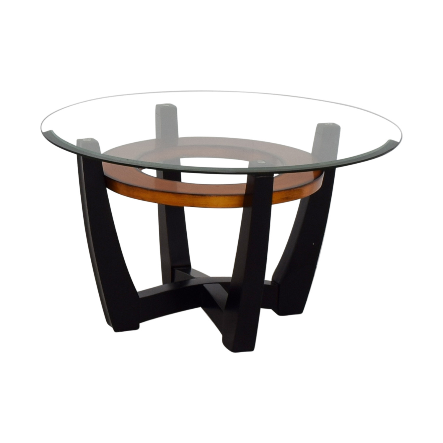 Best ideas about Wood And Glass Coffee Table . Save or Pin OFF Elation Elation Round Glass & Wood Coffee Table Now.
