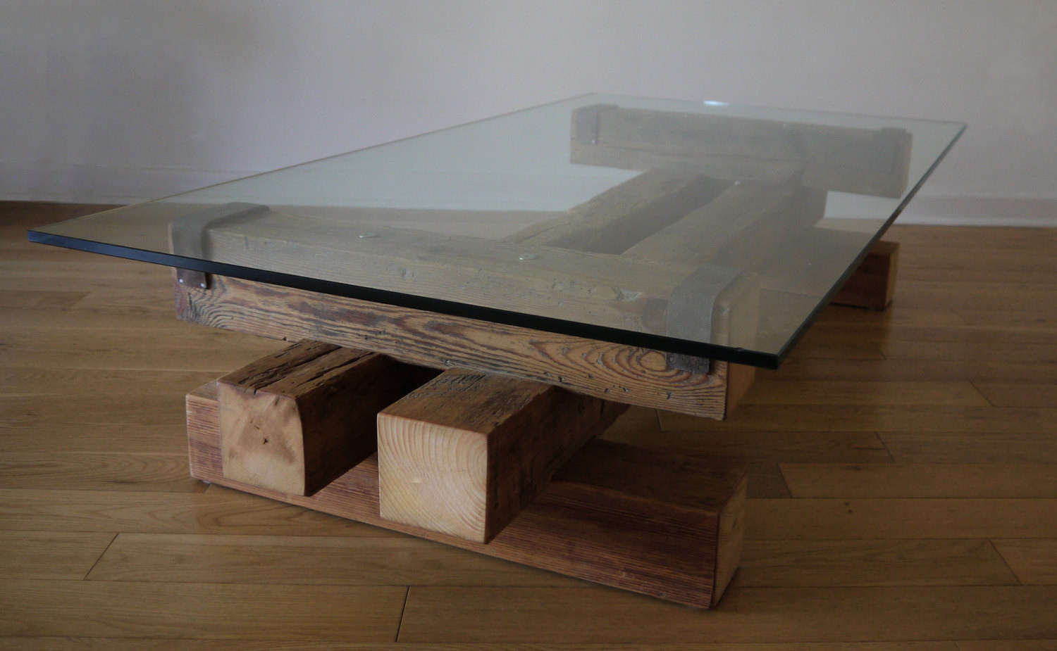 Best ideas about Wood And Glass Coffee Table . Save or Pin Reclaimed Wood and Glass Coffee Table Barn Wood Coffee Table Now.