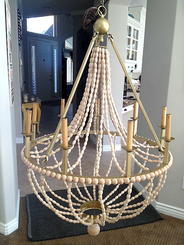 Best ideas about Wood Bead Chandelier DIY . Save or Pin How to Make a DIY Wood Beaded Chandelier Tatertots Now.