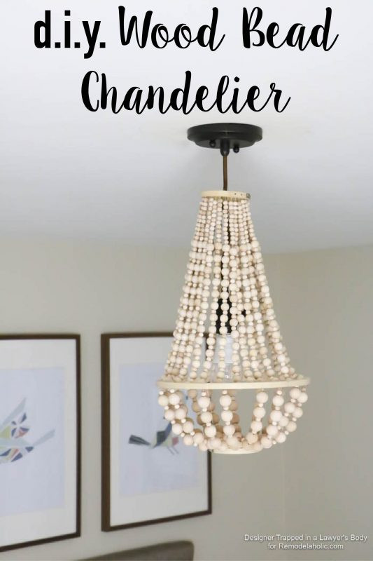 Best ideas about Wood Bead Chandelier DIY . Save or Pin Remodelaholic Now.