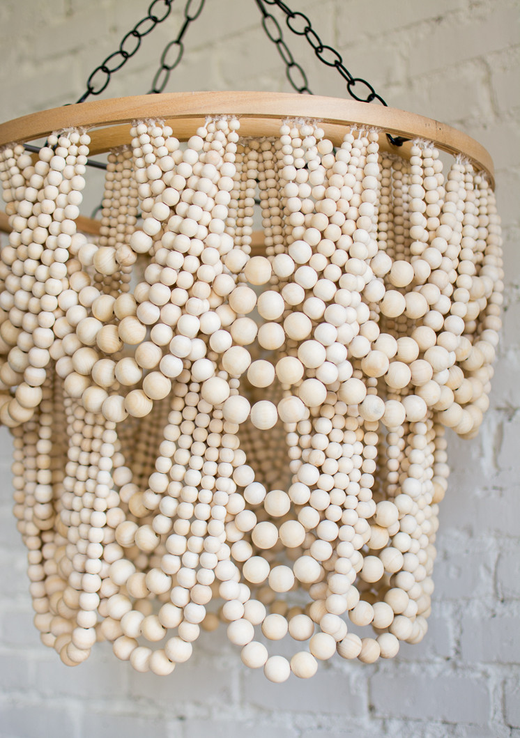 Best ideas about Wood Bead Chandelier DIY . Save or Pin DIY Bead Chandelier The House That Lars Built Now.