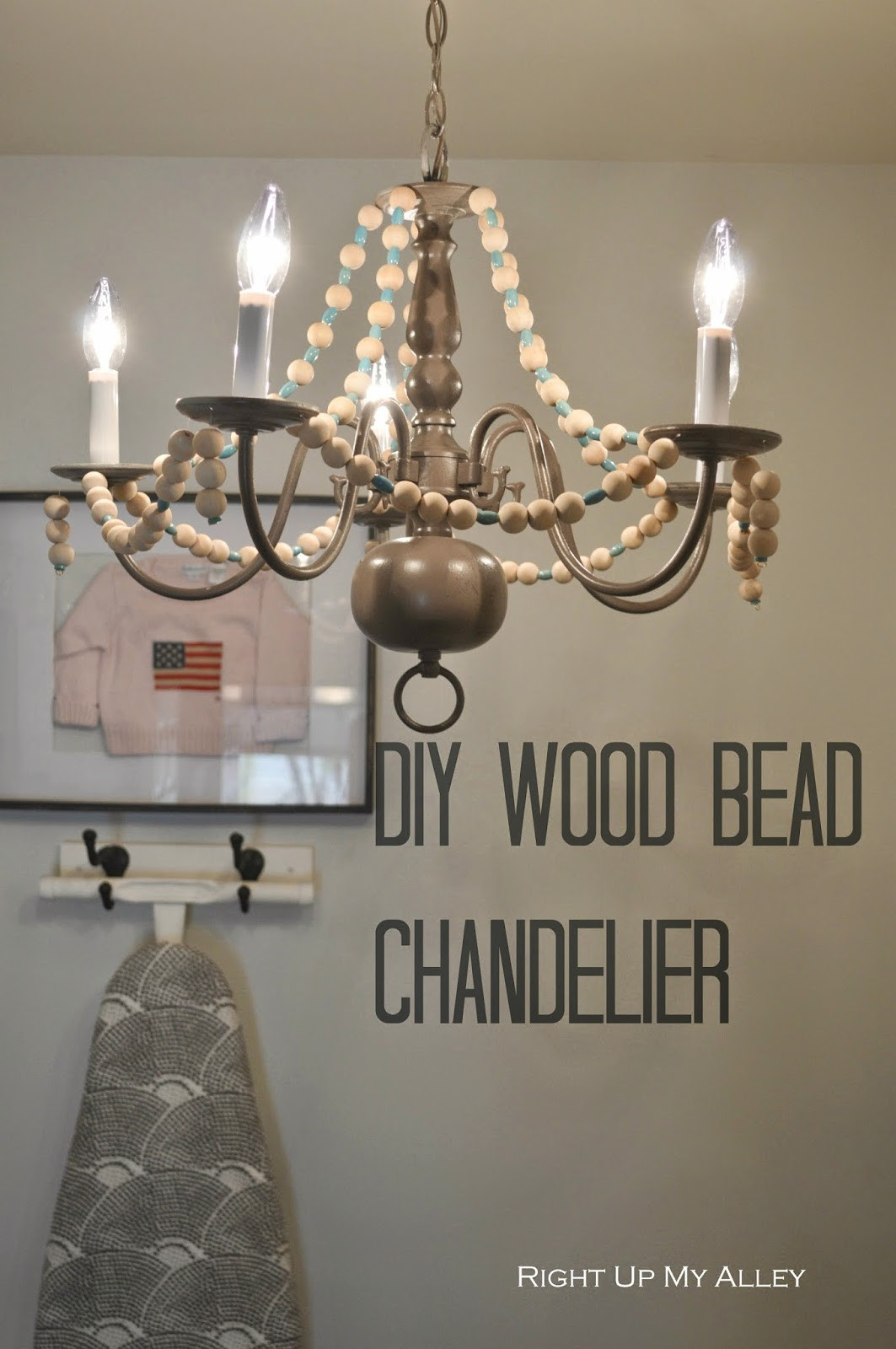 Best ideas about Wood Bead Chandelier DIY . Save or Pin Right up my alley DIY Wood Bead Chandelier Now.