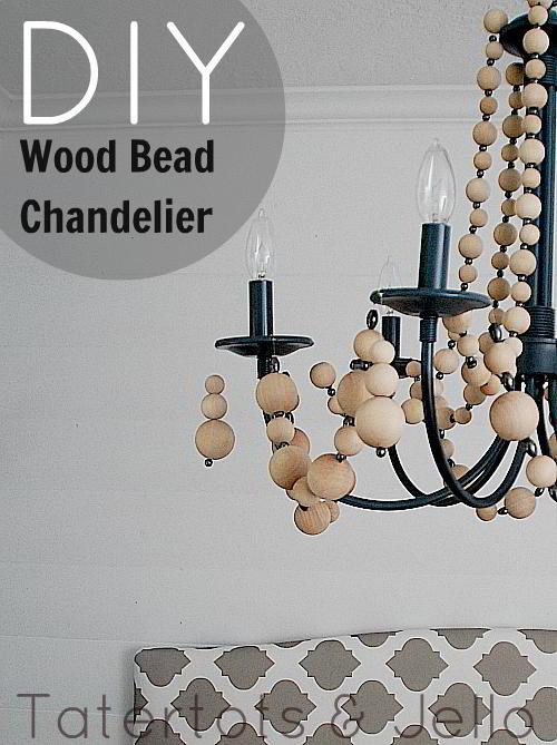 Best ideas about Wood Bead Chandelier DIY . Save or Pin 25 DIY Chandelier Ideas Now.