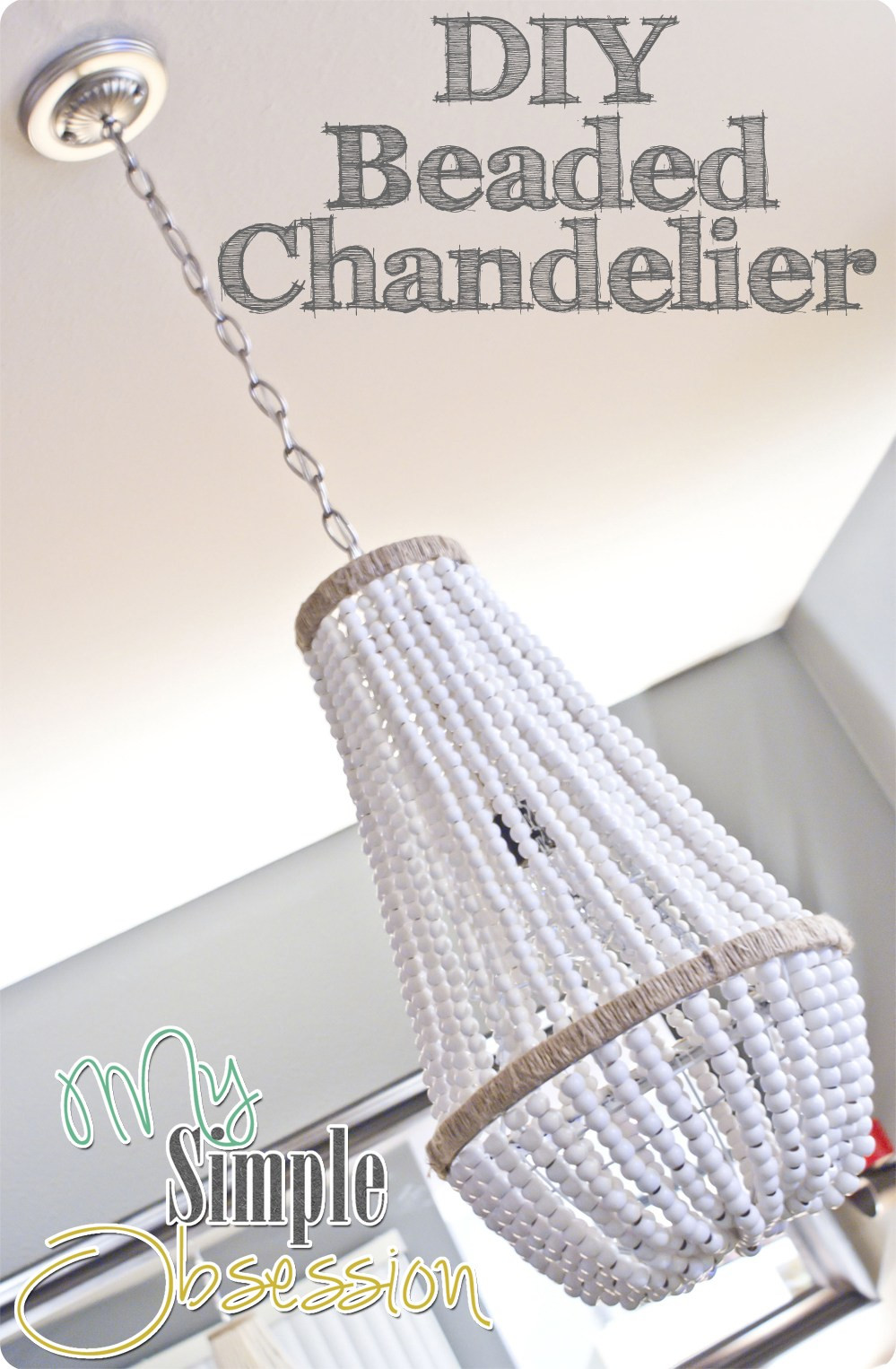 Best ideas about Wood Bead Chandelier DIY . Save or Pin Upcycle a Plain Chandelier into a Beaded Showpiece Now.