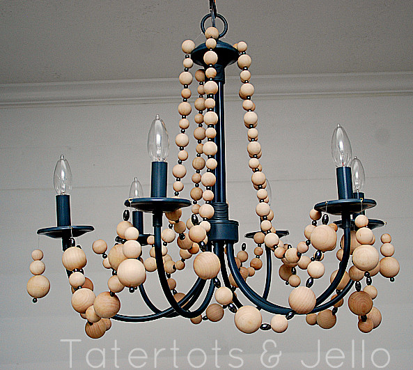 Best ideas about Wood Bead Chandelier DIY . Save or Pin My Sweet Savannah diy beaded chandeliers Now.