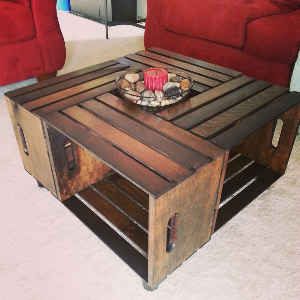 Best ideas about Wood Crate Coffee Table . Save or Pin I made this out of unfinished wood crates somethingimade Now.