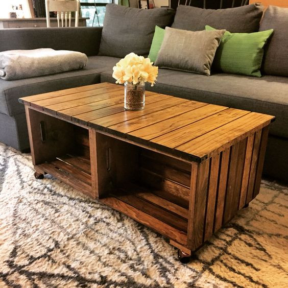 Best ideas about Wood Crate Coffee Table . Save or Pin Our DIY wood crate coffee table How we did it We used 4 Now.