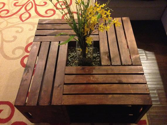 Best ideas about Wood Crate Coffee Table . Save or Pin Antique Wood Crate Coffee Table Now.