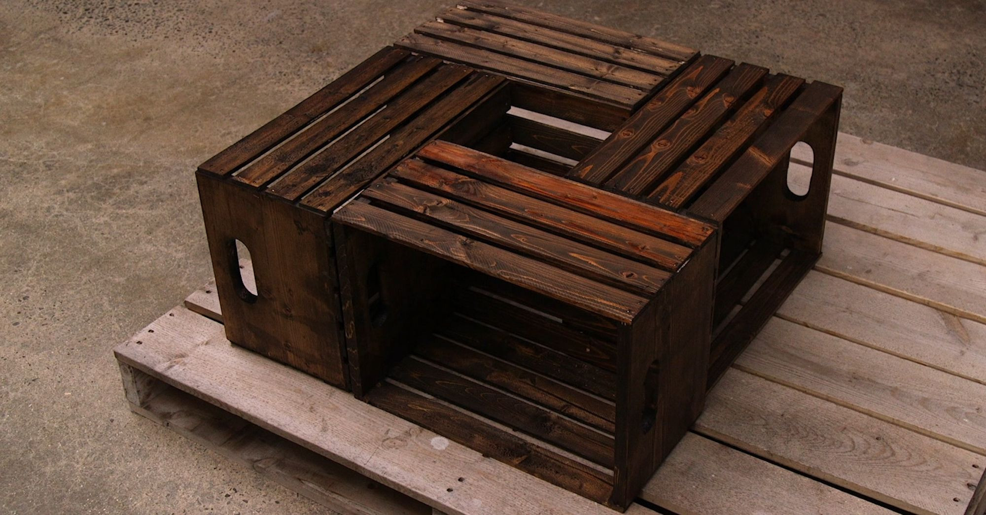 Best ideas about Wood Crate Coffee Table . Save or Pin DIY Wooden Crate Coffee Table Now.