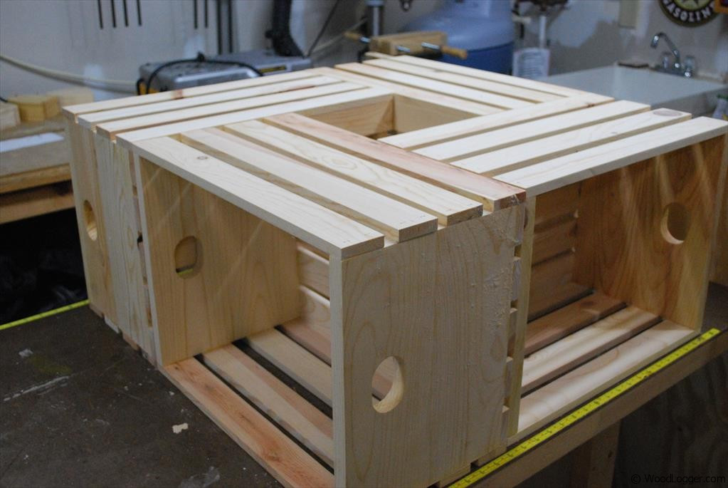 Best ideas about Wood Crate Coffee Table . Save or Pin Wood Crate Coffee Table WoodLogger Now.