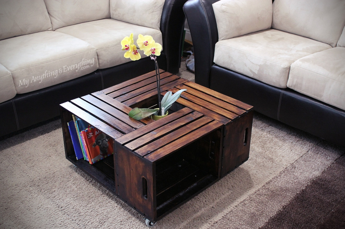 Best ideas about Wood Crate Coffee Table . Save or Pin 20 DIY Wooden Crate Coffee Tables Now.