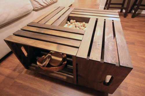 Best ideas about Wood Crate Coffee Table . Save or Pin Turning Salvaged Wood into Home Décor Now.