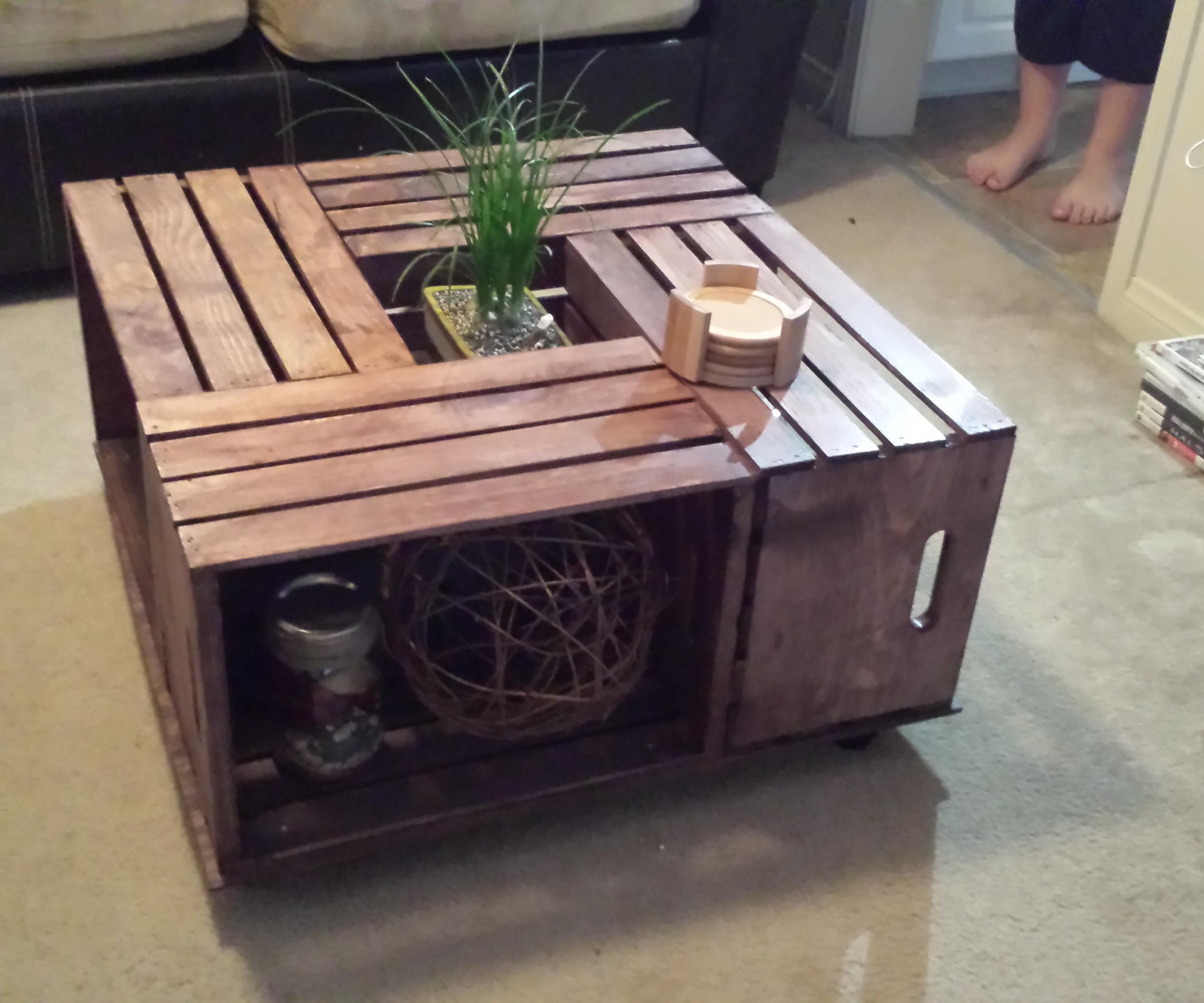 Best ideas about Wood Crate Coffee Table . Save or Pin Crate Coffee Table Now.