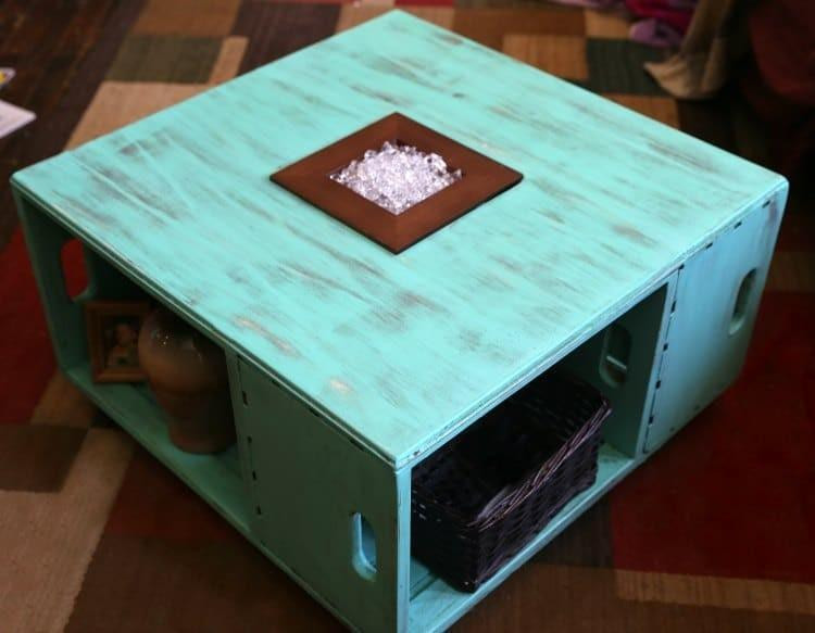 Best ideas about Wood Crate Coffee Table . Save or Pin DIY Distressed Wood Crate Coffee Table Now.
