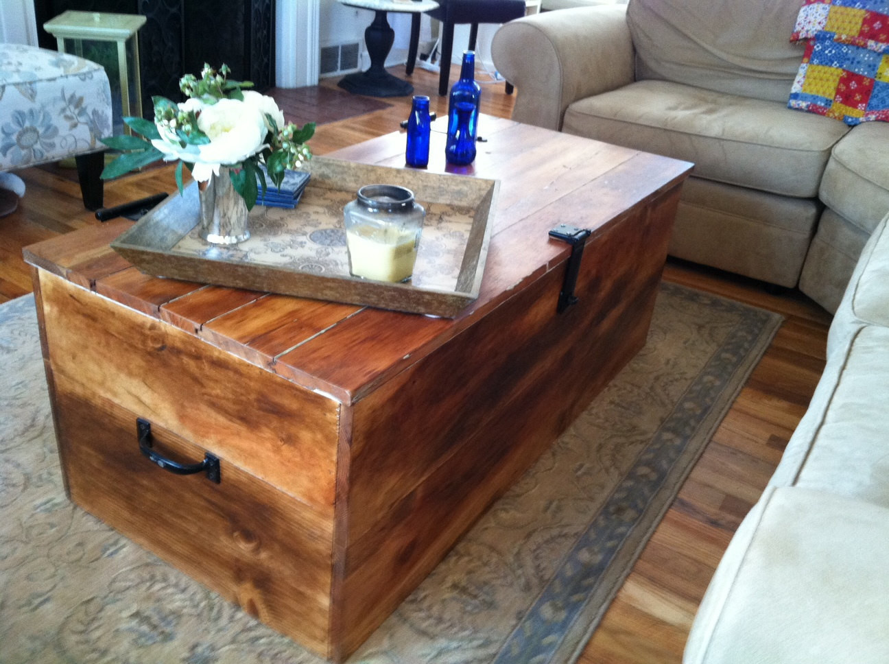 """Best ideas about Wood Crate Coffee Table . Save or Pin Items similar to Wood """"Shipping Crate"""" Coffee Table on Etsy Now."""