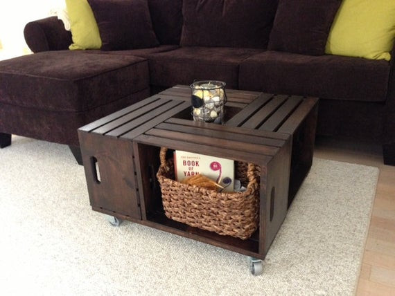 Best ideas about Wood Crate Coffee Table . Save or Pin Items similar to Wooden Crate Coffee Table on Etsy Now.