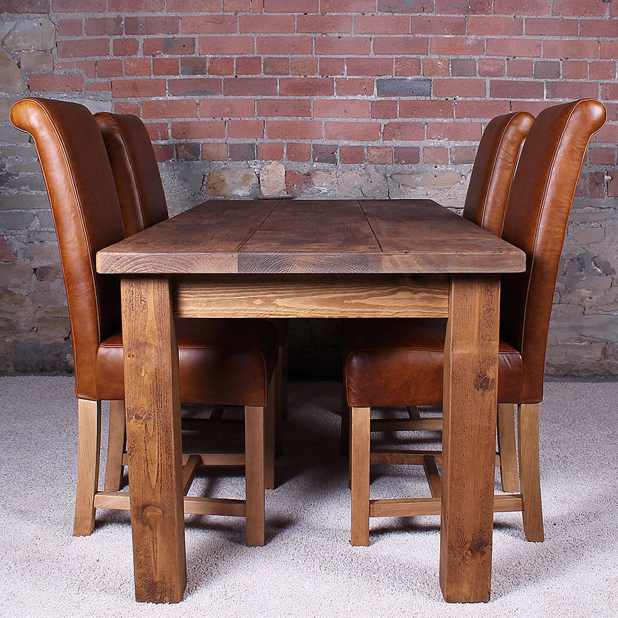 Best ideas about Wood Dining Room Table . Save or Pin solid wood dining table by h&f Now.