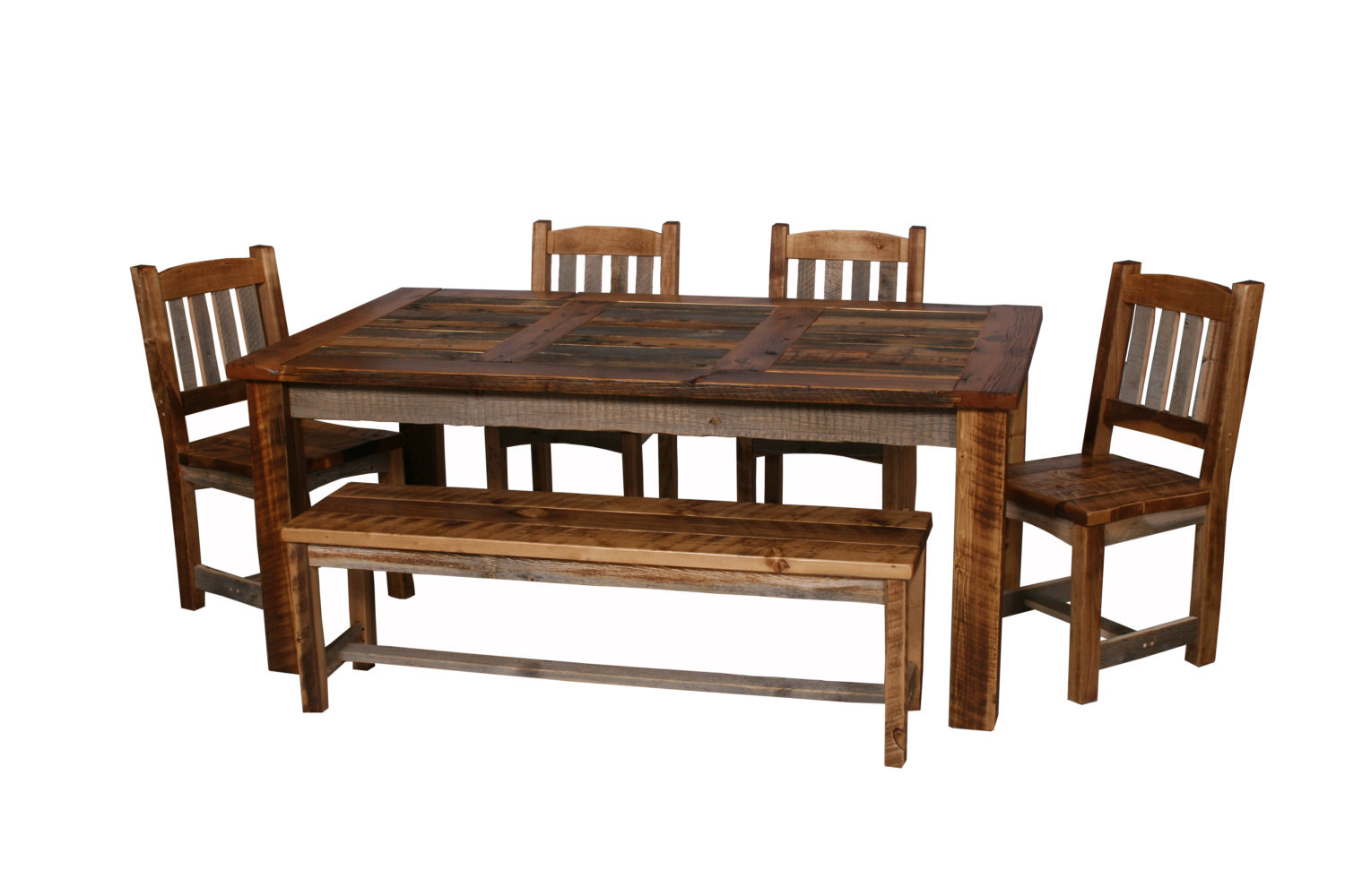 Best ideas about Wood Dining Room Table . Save or Pin Natural Barn Wood Dining Table Set Dining Room Furniture Now.