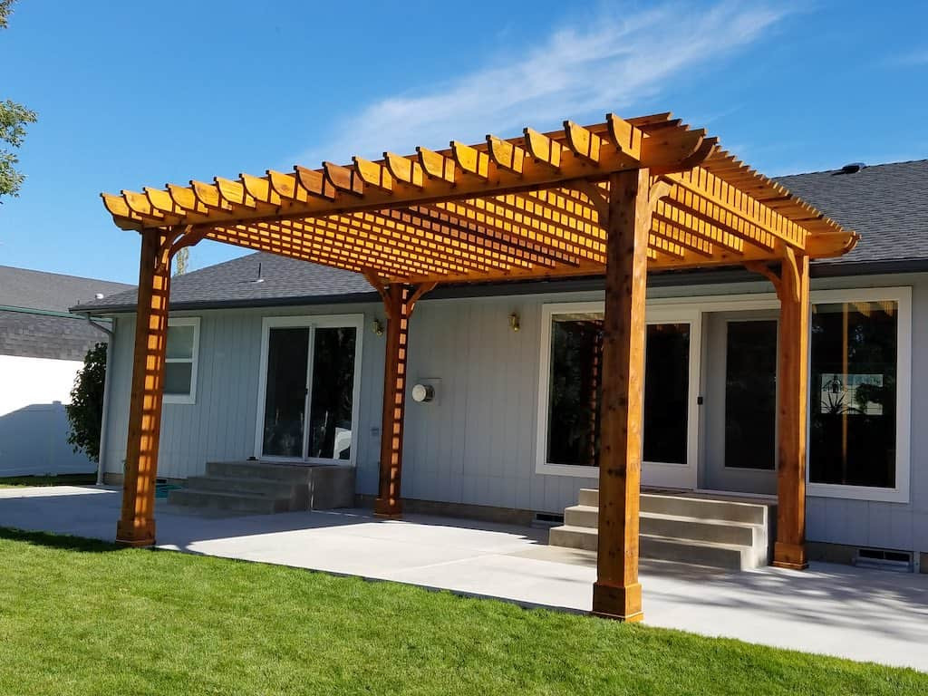 Best ideas about Wood Patio Covers . Save or Pin Solid Wood Patio Cover Now.
