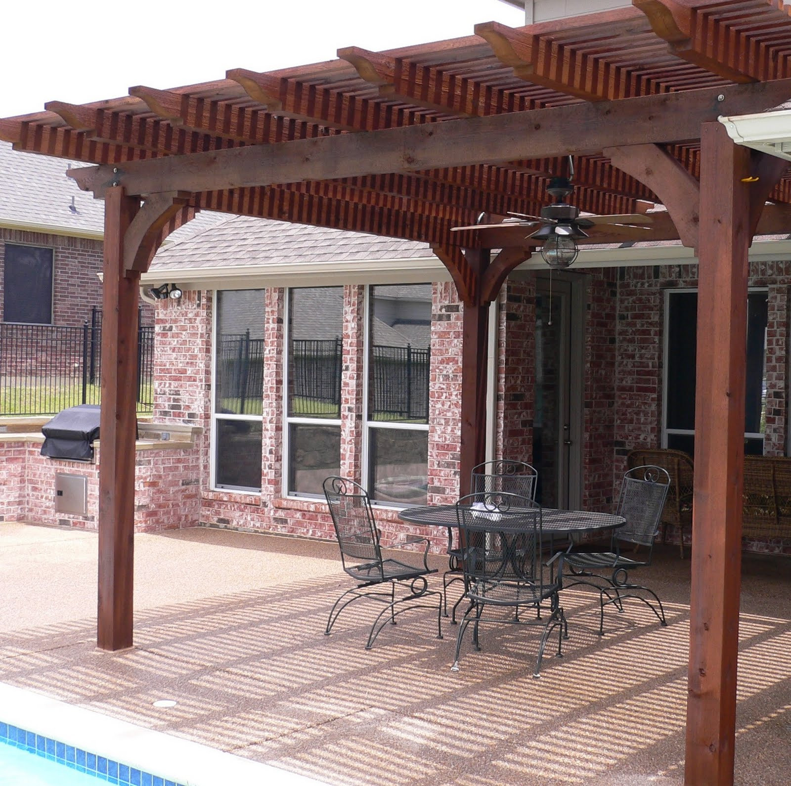 Best ideas about Wood Patio Covers . Save or Pin patio roof designs Now.