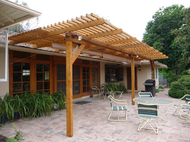 Best ideas about Wood Patio Covers . Save or Pin TimberSIL glass wood Patio Trellis – Pacific Palisades Now.