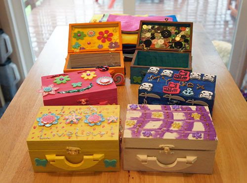 """Best ideas about Wooden Craft Ideas For Kids . Save or Pin Decorated wooden boxes from our Michael s Craft """"Hosties Now."""