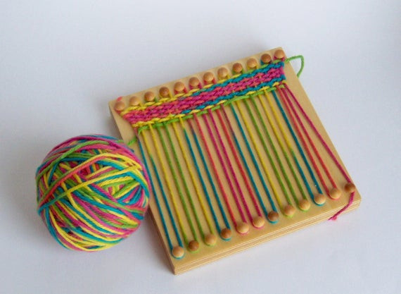 Best ideas about Wooden Craft Ideas For Kids . Save or Pin Wood weaving loom for kids crafts fine motor wood toy Now.