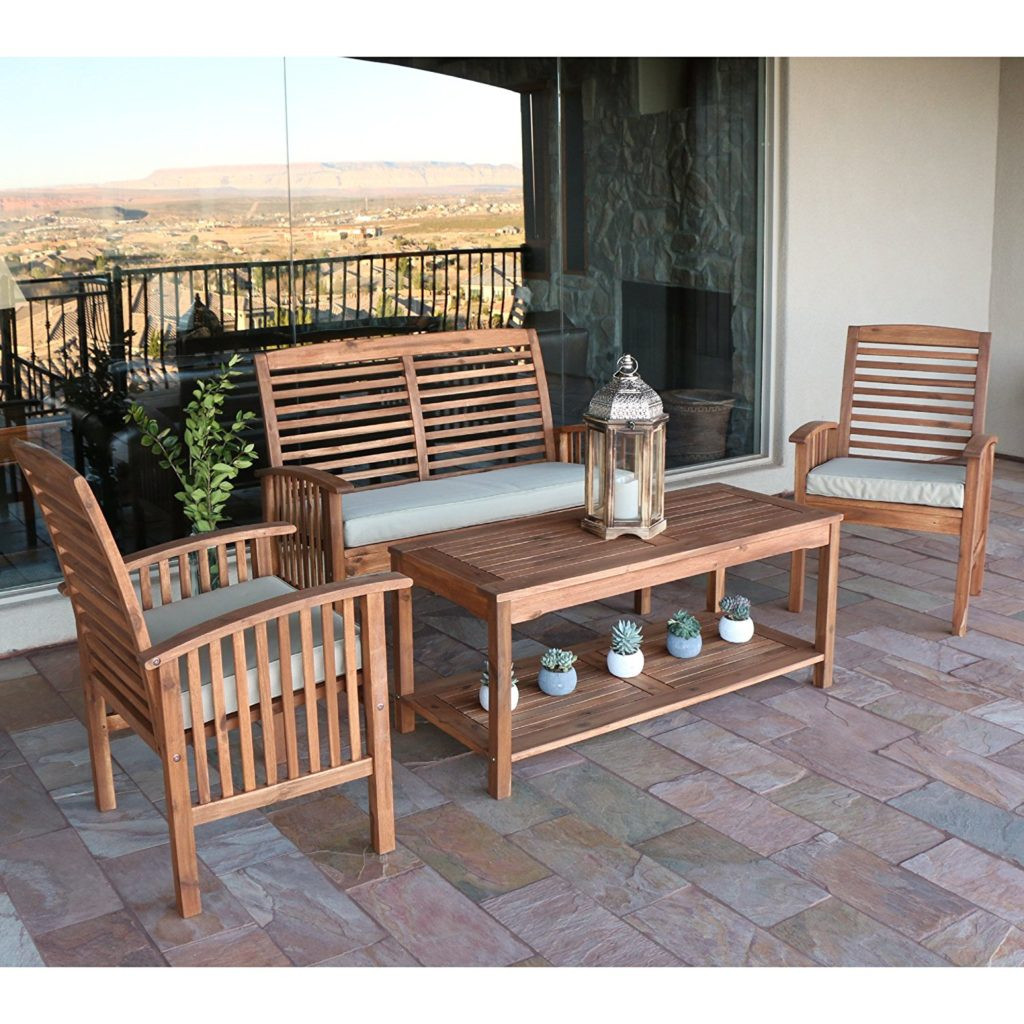 Best ideas about Wooden Patio Furniture . Save or Pin Best Acacia Wood Outdoor Furniture 2019 Buying Guide Now.